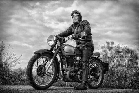 vintage biker