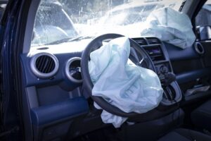 Car With white Cloth in Streeing